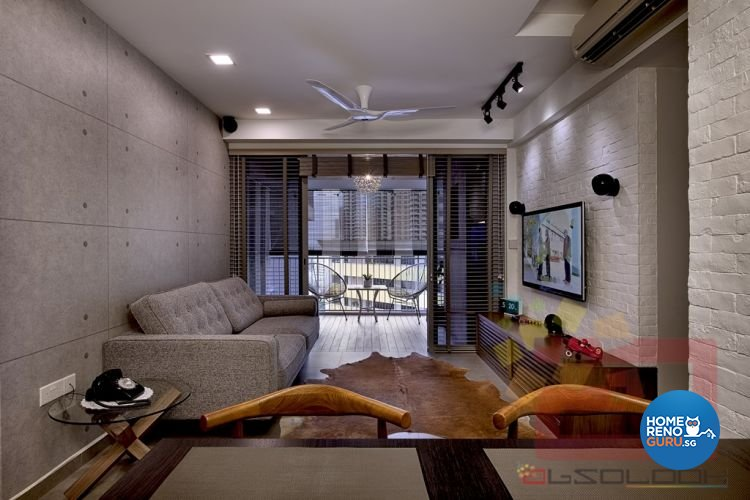 Minimalist Design - Living Room - HDB 4 Room - Design by Absolook Interior Design Pte Ltd