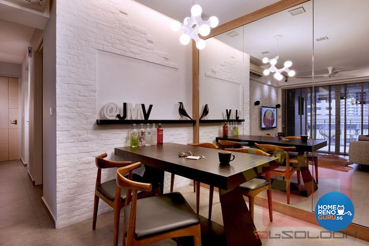 Minimalist Design - Dining Room - HDB 4 Room - Design by Absolook Interior Design Pte Ltd