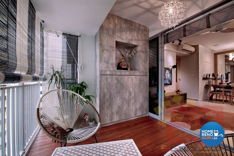 Minimalist Design - Balcony - HDB 4 Room - Design by Absolook Interior Design Pte Ltd