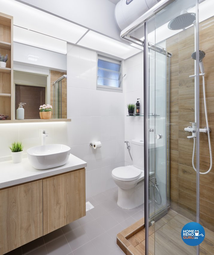 Contemporary, Modern Design - Bathroom - Condominium - Design by Absolook Interior Design Pte Ltd
