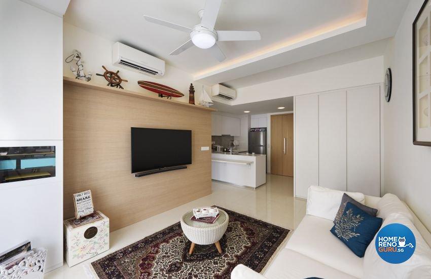 Minimalist, Resort Design - Living Room - Condominium - Design by AC Vision Design Pte Ltd