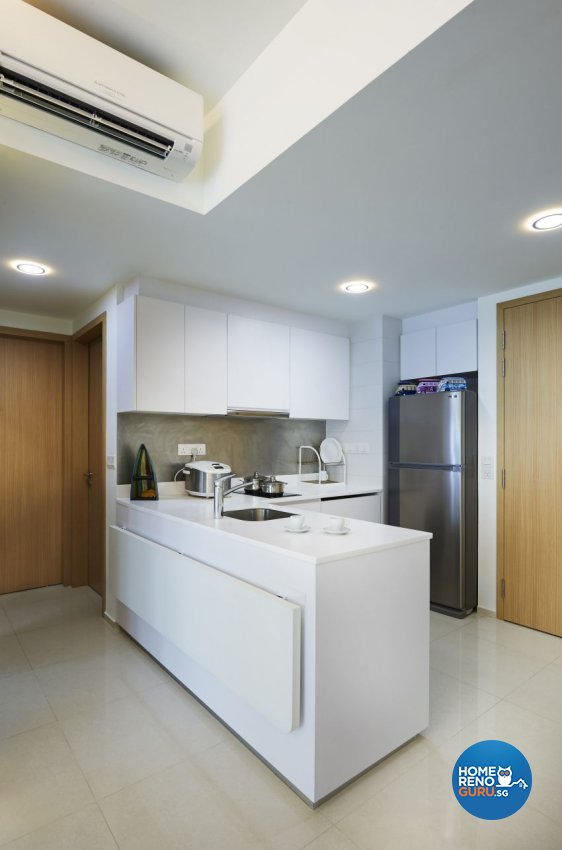 Minimalist, Resort Design - Kitchen - Condominium - Design by AC Vision Design Pte Ltd