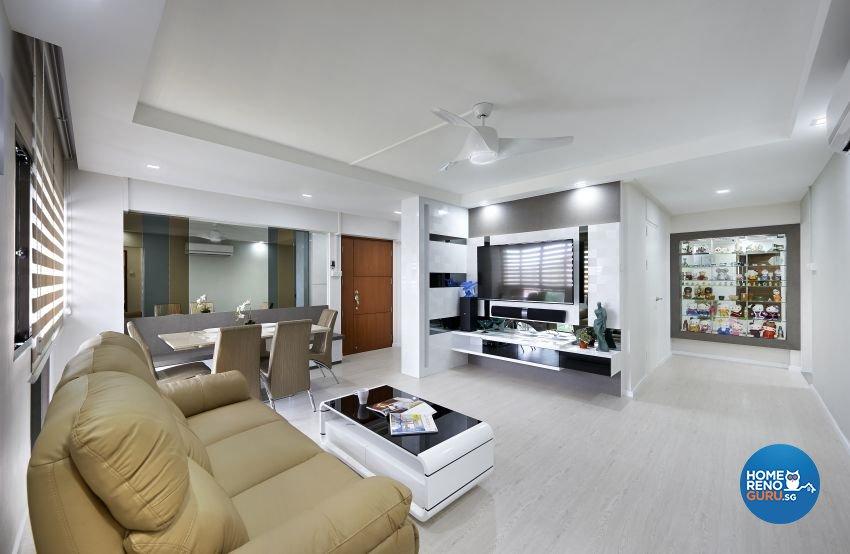 Modern Design - Living Room - HDB 5 Room - Design by AC Vision Design Pte Ltd