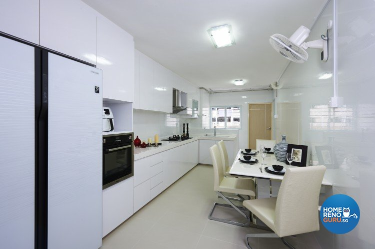 Contemporary, Modern Design - Kitchen - HDB 4 Room - Design by AC Vision Design Pte Ltd