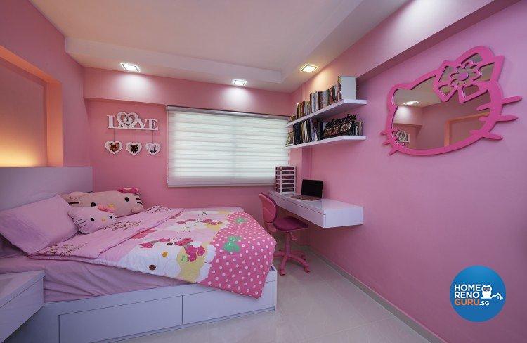 Contemporary, Modern Design - Bedroom - HDB 4 Room - Design by AC Vision Design Pte Ltd