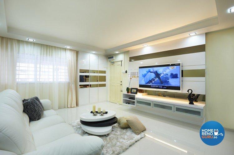 Contemporary, Modern Design - Living Room - HDB 4 Room - Design by AC Vision Design Pte Ltd