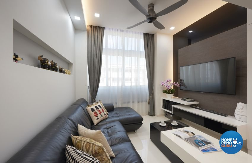 Contemporary Design - Living Room - HDB Executive Apartment - Design by AC Vision Design Pte Ltd