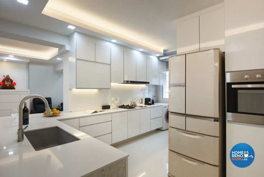 Contemporary Design - Kitchen - HDB Executive Apartment - Design by AC Vision Design Pte Ltd