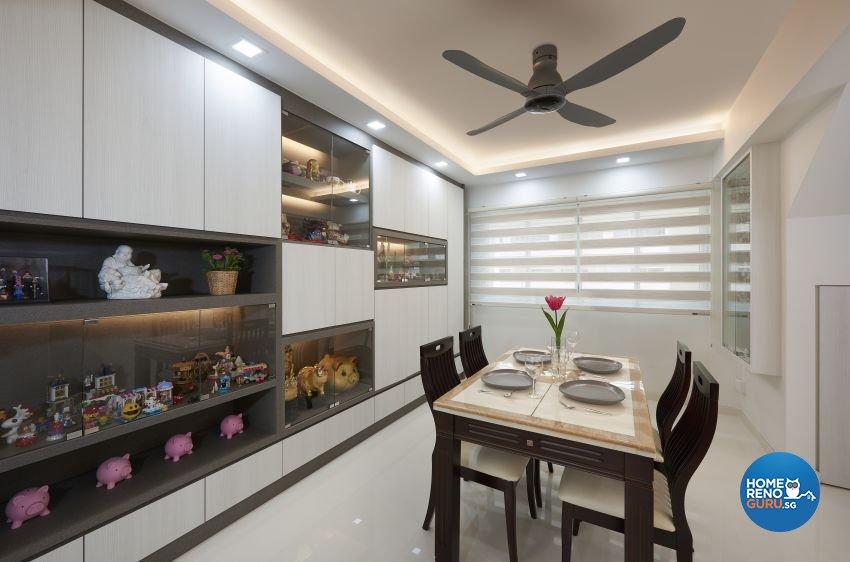 Contemporary Design - Dining Room - HDB Executive Apartment - Design by AC Vision Design Pte Ltd