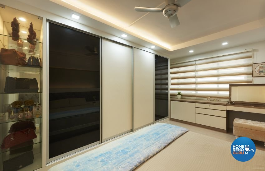 Contemporary Design - Bedroom - HDB Executive Apartment - Design by AC Vision Design Pte Ltd