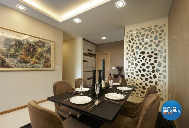 Contemporary, Modern Design - Dining Room - Condominium - Design by AC Vision Design Pte Ltd