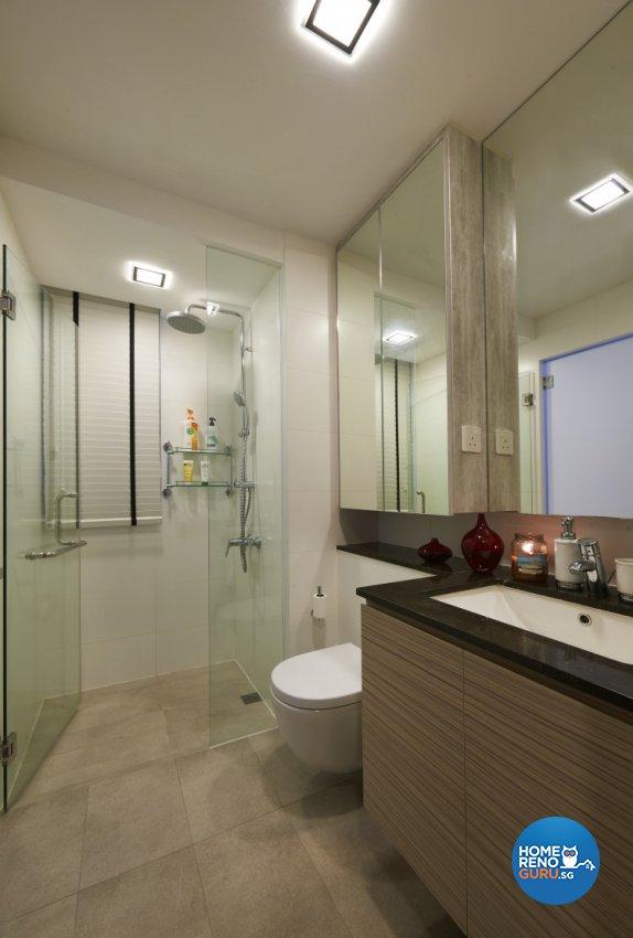 Contemporary, Modern Design - Bathroom - Condominium - Design by AC Vision Design Pte Ltd