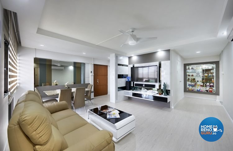 Contemporary, Modern Design - Living Room - HDB 5 Room - Design by AC Vision Design Pte Ltd