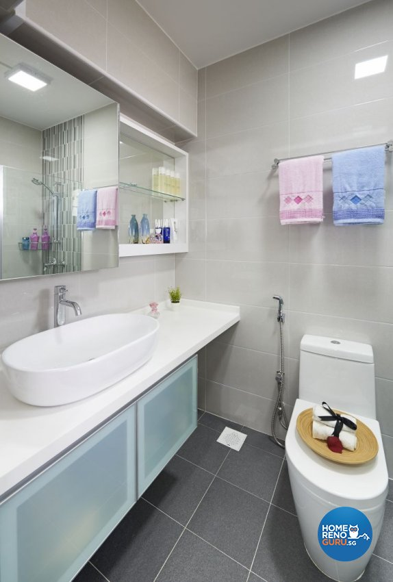 Contemporary, Modern Design - Bathroom - HDB 5 Room - Design by AC Vision Design Pte Ltd