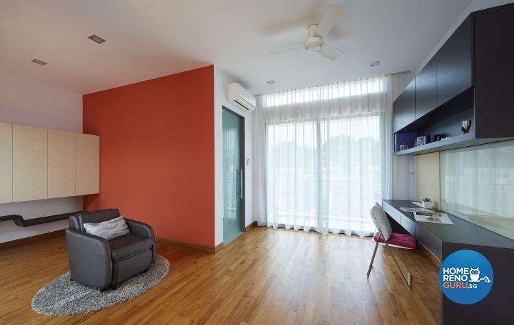 Contemporary, Modern Design - Study Room - Landed House - Design by AC Vision Design Pte Ltd