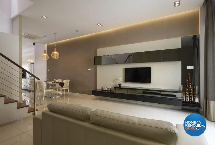 Contemporary, Modern Design - Living Room - Landed House - Design by AC Vision Design Pte Ltd