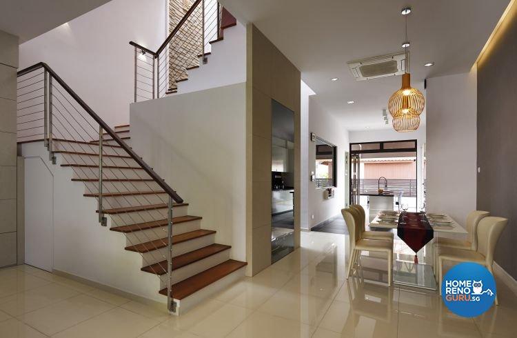 Contemporary, Modern Design - Dining Room - Landed House - Design by AC Vision Design Pte Ltd