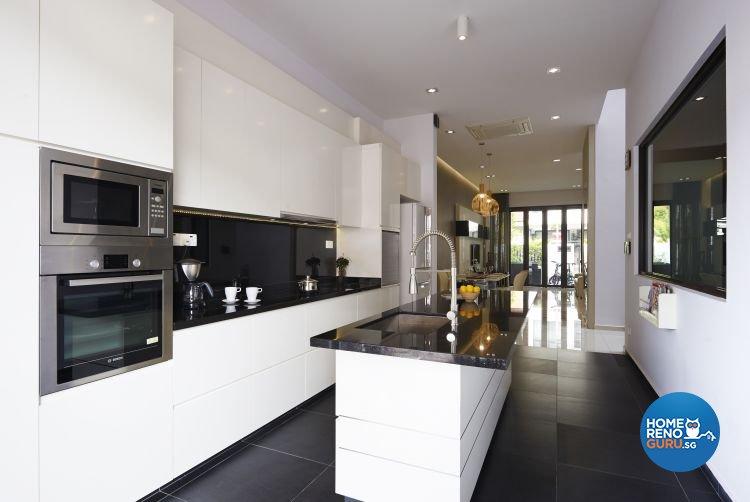 Contemporary, Modern Design - Kitchen - Landed House - Design by AC Vision Design Pte Ltd