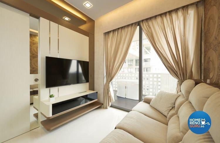 Contemporary, Modern Design - Living Room - Condominium - Design by AC Vision Design Pte Ltd