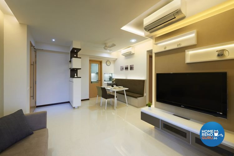 Contemporary, Modern Design - Living Room - Condominium - Design by AC Vision Design Pte Ltd