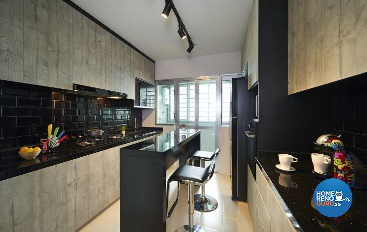 Modern, Scandinavian, Victorian Design - Kitchen - HDB 5 Room - Design by AC Vision Design Pte Ltd