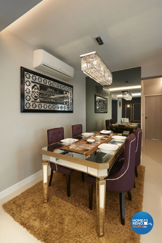 Modern, Scandinavian, Victorian Design - Dining Room - HDB 5 Room - Design by AC Vision Design Pte Ltd