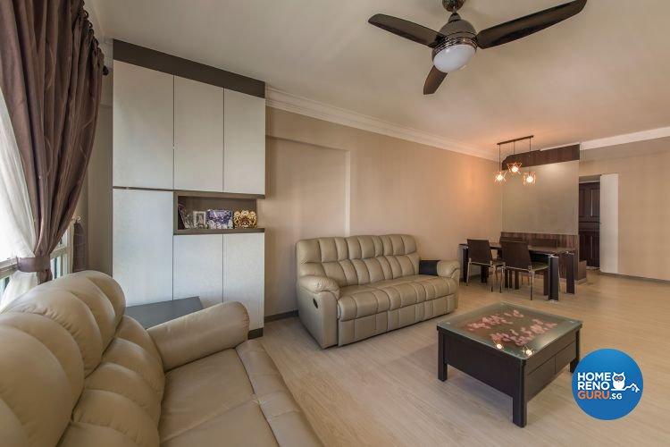 Minimalist, Modern Design - Living Room - HDB 4 Room - Design by Ace Space Design Pte Ltd
