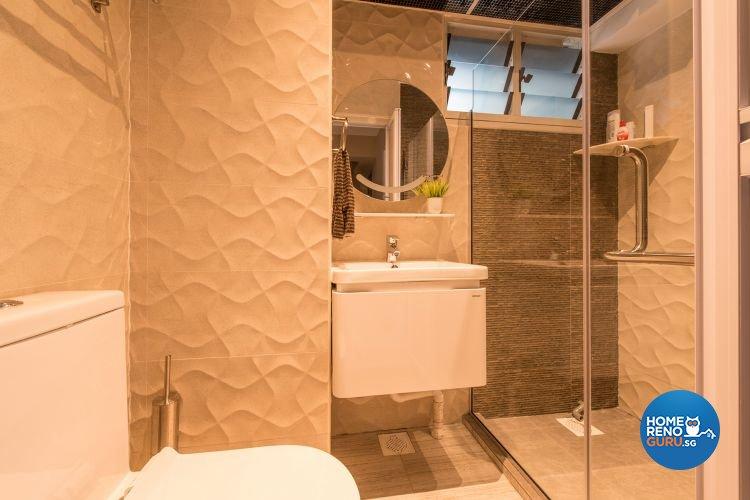 Minimalist, Modern Design - Bathroom - HDB 4 Room - Design by Ace Space Design Pte Ltd
