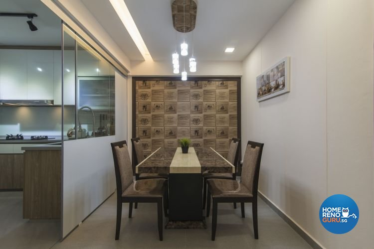 Contemporary, Modern Design - Dining Room - HDB 4 Room - Design by Ace Space Design Pte Ltd