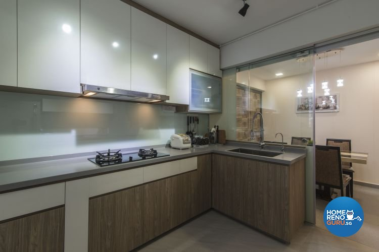 Contemporary, Modern Design - Kitchen - HDB 4 Room - Design by Ace Space Design Pte Ltd