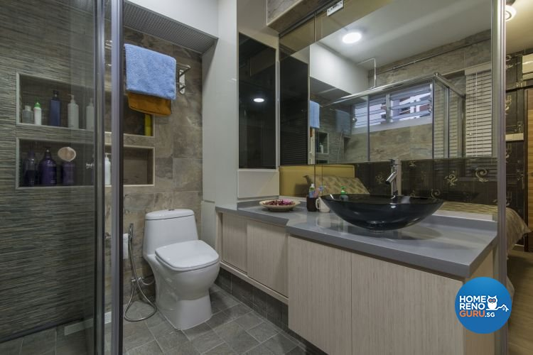 Contemporary, Modern Design - Bathroom - HDB 4 Room - Design by Ace Space Design Pte Ltd