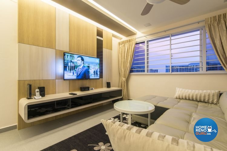 Contemporary, Modern Design - Living Room - HDB 4 Room - Design by Ace Space Design Pte Ltd