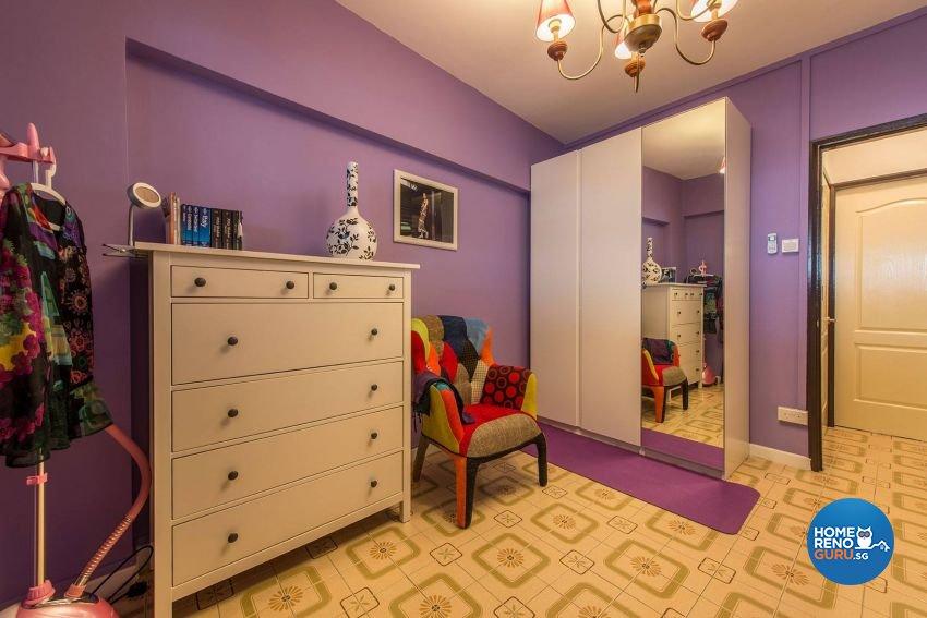Modern, Retro Design - Bedroom - HDB 3 Room - Design by Ace Space Design Pte Ltd