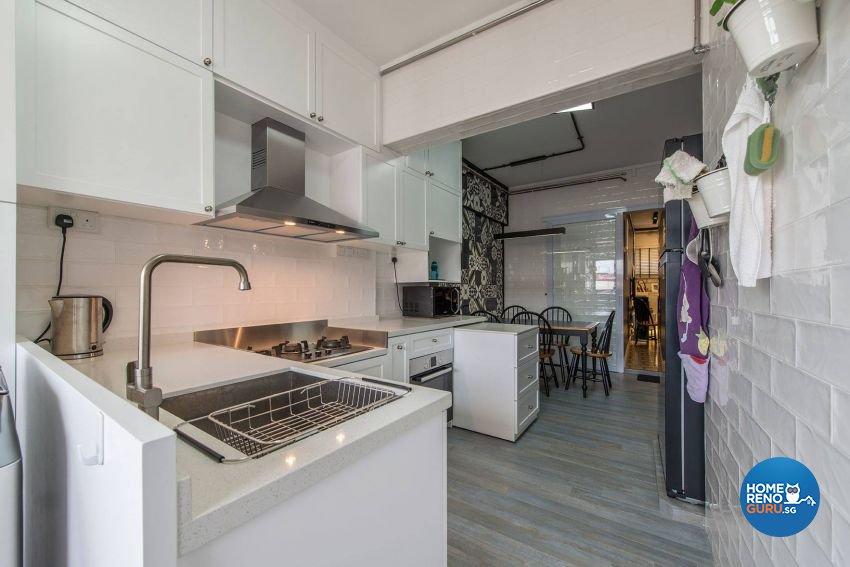 Modern, Retro Design - Kitchen - HDB 3 Room - Design by Ace Space Design Pte Ltd