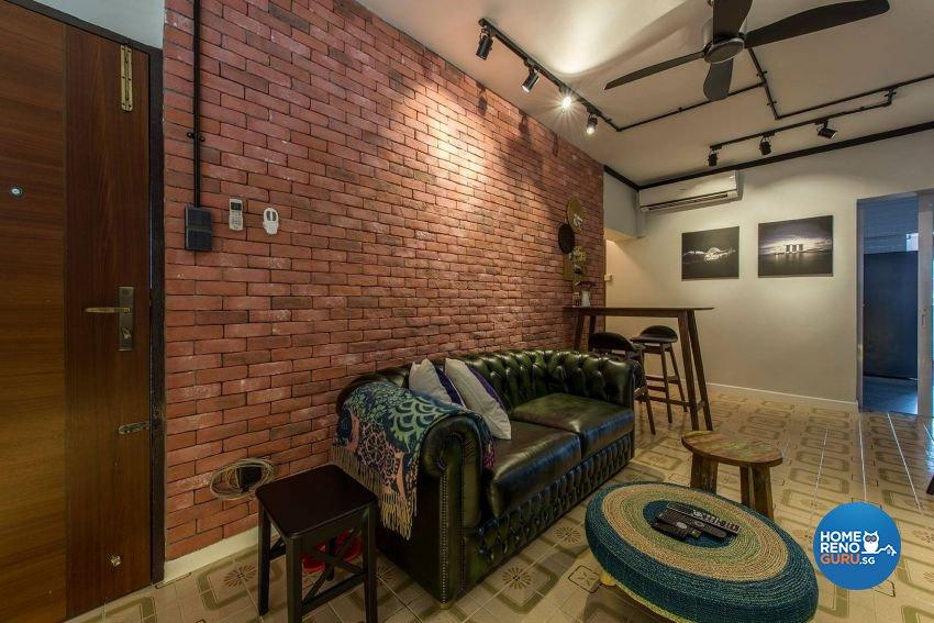 Modern, Retro Design - Living Room - HDB 3 Room - Design by Ace Space Design Pte Ltd