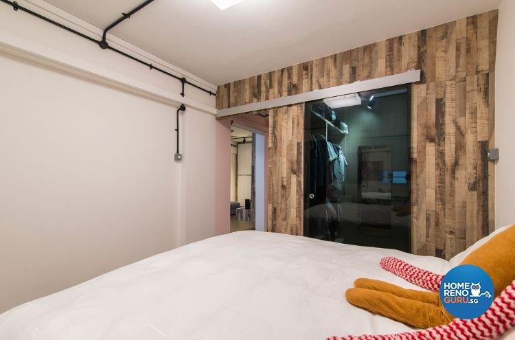 Industrial, Minimalist Design - Bedroom - HDB 3 Room - Design by Ace Space Design Pte Ltd