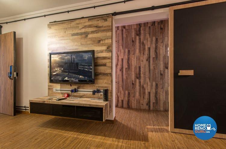 Industrial, Minimalist Design - Living Room - HDB 3 Room - Design by Ace Space Design Pte Ltd