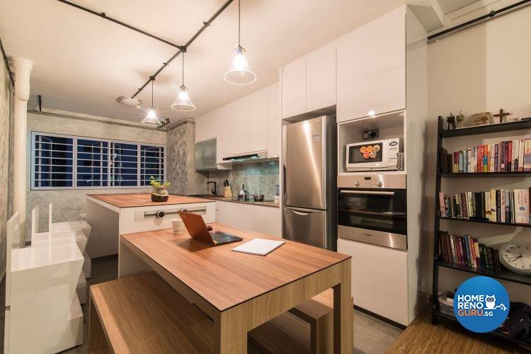 Industrial, Minimalist Design - Dining Room - HDB 3 Room - Design by Ace Space Design Pte Ltd