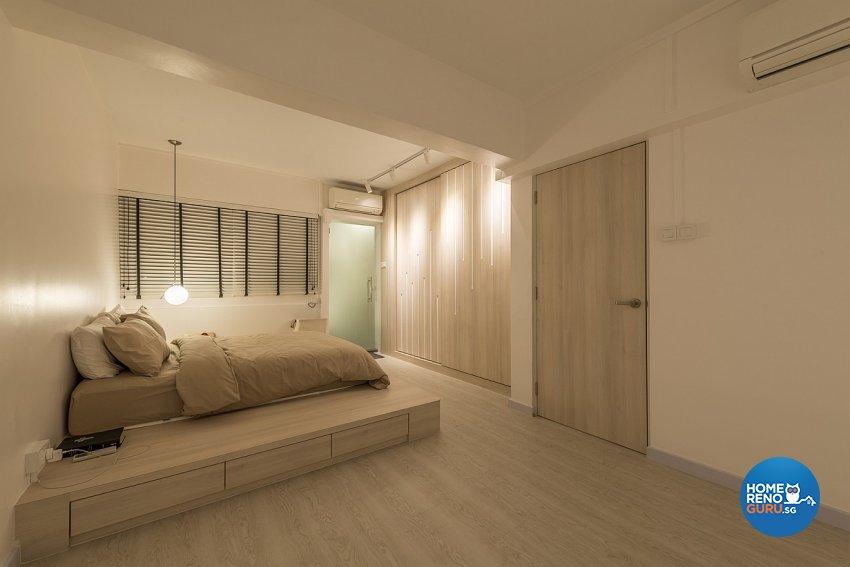 Contemporary, Minimalist Design - Bedroom - HDB 3 Room - Design by Ace Space Design Pte Ltd