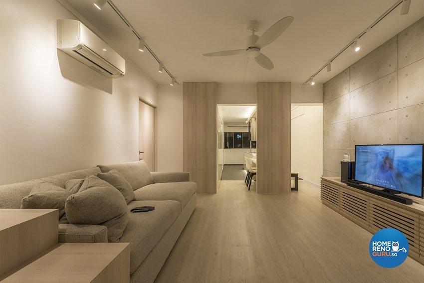 Contemporary, Minimalist Design - Living Room - HDB 3 Room - Design by Ace Space Design Pte Ltd