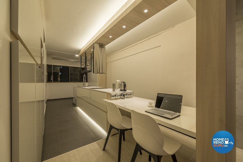Contemporary, Minimalist Design - Kitchen - HDB 3 Room - Design by Ace Space Design Pte Ltd