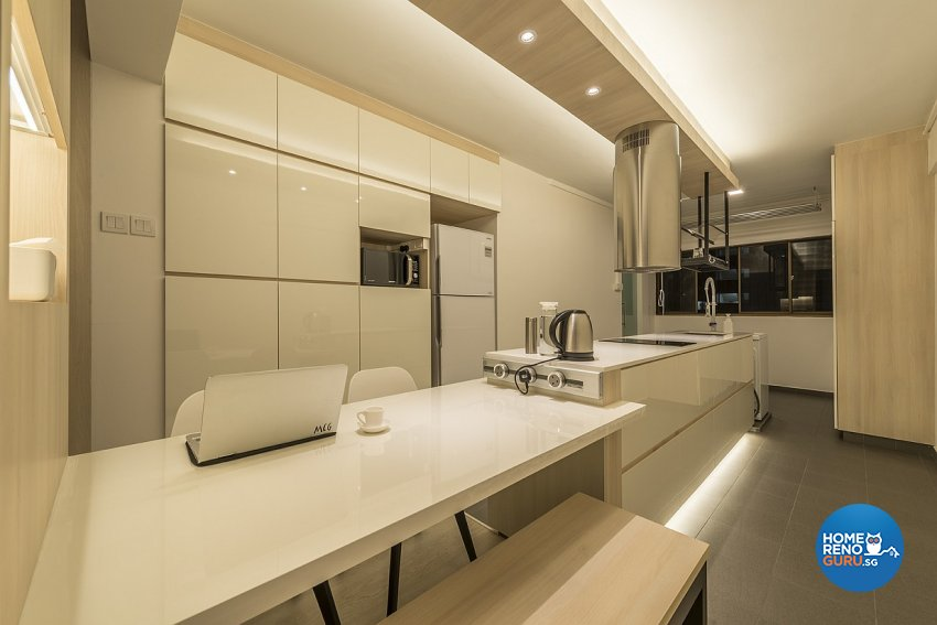 Contemporary, Minimalist Design - Dining Room - HDB 3 Room - Design by Ace Space Design Pte Ltd