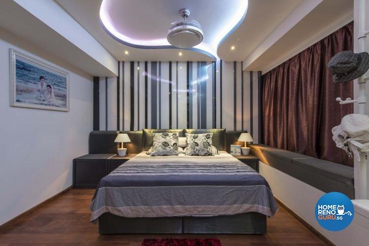 Eclectic, Modern Design - Bedroom - Condominium - Design by Ace Space Design Pte Ltd