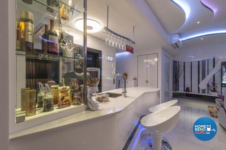 Eclectic, Modern Design - Living Room - Condominium - Design by Ace Space Design Pte Ltd