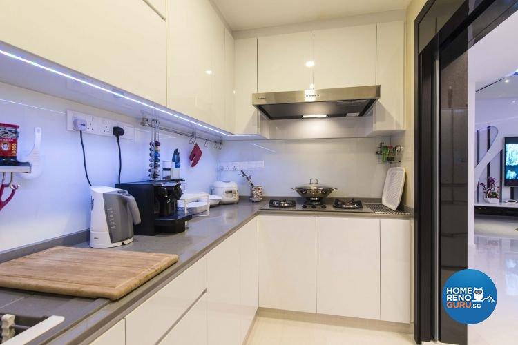 Eclectic, Modern Design - Kitchen - Condominium - Design by Ace Space Design Pte Ltd