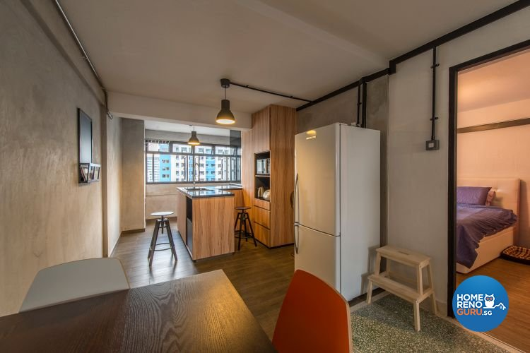 Contemporary, Industrial Design - Dining Room - HDB 3 Room - Design by Ace Space Design Pte Ltd
