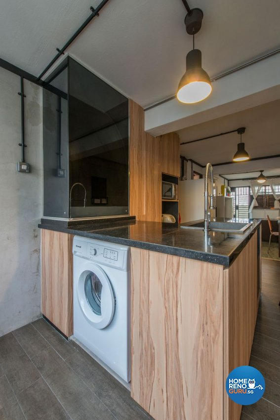 Contemporary, Industrial Design - Kitchen - HDB 3 Room - Design by Ace Space Design Pte Ltd