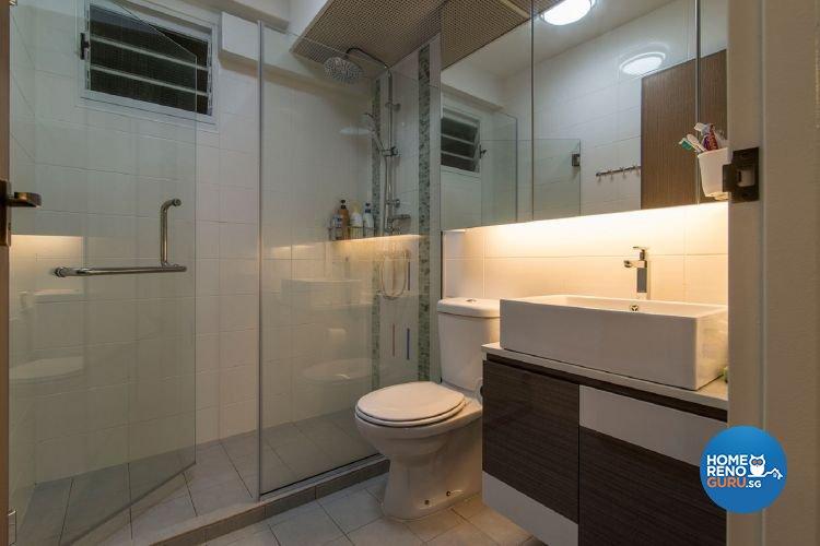 Classical, Contemporary Design - Bathroom - HDB 5 Room - Design by Ace Space Design Pte Ltd