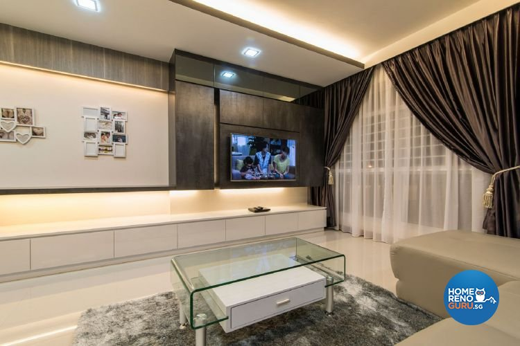 Classical, Contemporary Design - Living Room - HDB 5 Room - Design by Ace Space Design Pte Ltd