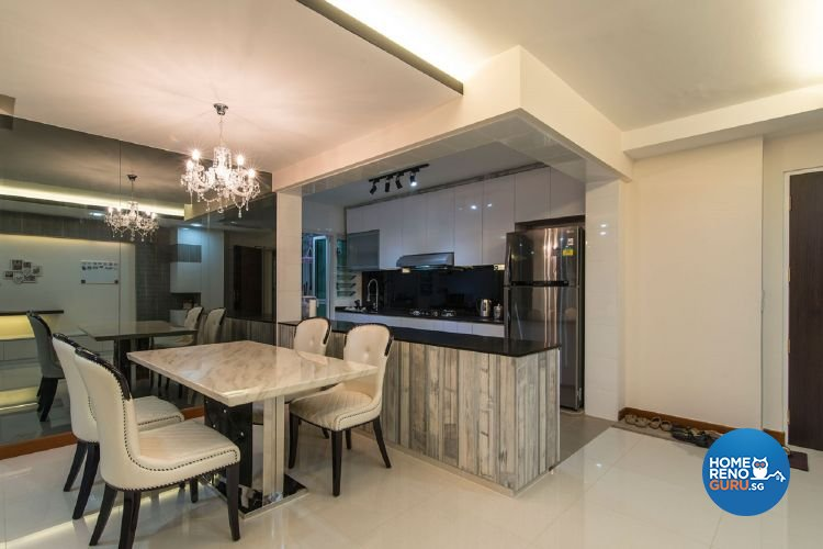 Classical, Contemporary Design - Dining Room - HDB 5 Room - Design by Ace Space Design Pte Ltd